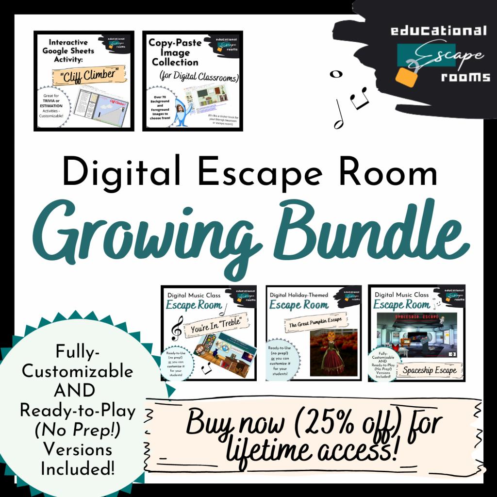 Digital Escape Room Growing Bundle Thumbnail